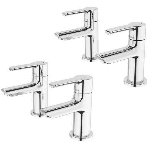 Additional image for Pillar Basin & Bath Tap Pack (Pairs, Chrome).