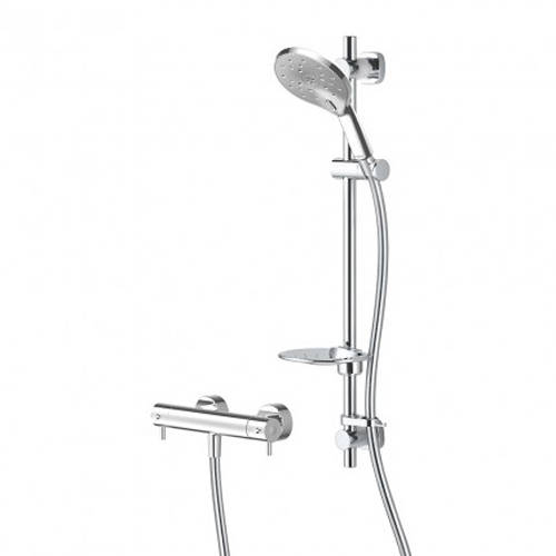 Additional image for Kaha Cool Touch Thermostatic Bar Shower With Easy Fit Kit.