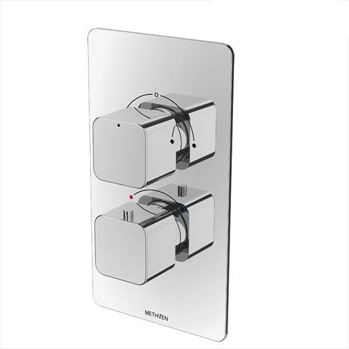 Additional image for Kiri Concealed Thermostatic Mixer Shower Valve (Chrome, 2 Outlets).