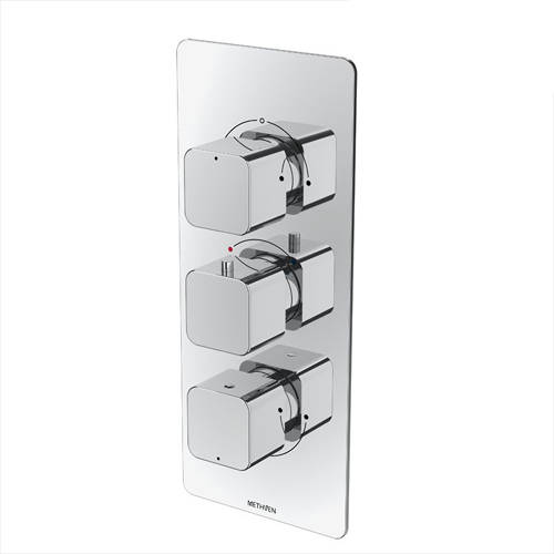 Additional image for Kiri Concealed Thermostatic Mixer Shower Valve (Chrome, 3 Outlets).