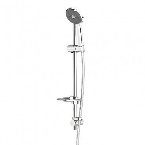 Additional image for Kiri Satinjet Shower Kit (600mm, Chrome).