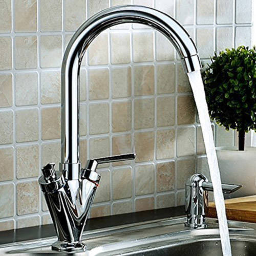 Additional image for Kitchen Tap With Swivel Spout (Chrome).