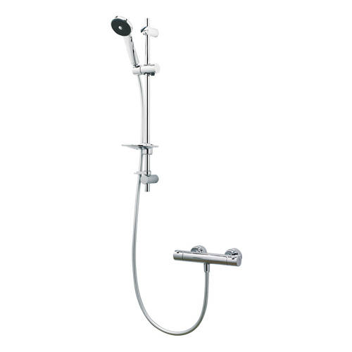 Additional image for Maku Satinjet Cool Touch Thermostatic Bar Shower Pack (Chrome).
