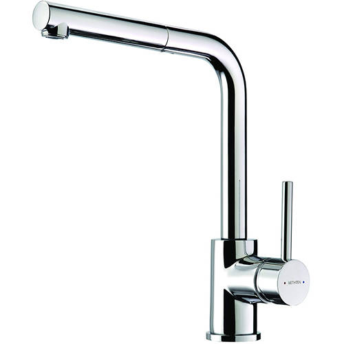 Additional image for Metro Pull Out Mixer Kitchen Tap (Chrome).