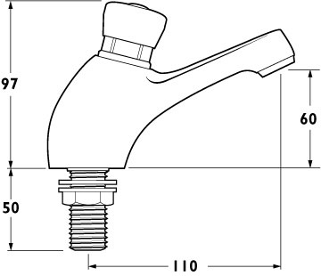 Additional image for Preset Non-Concussive Basin Taps (pair).