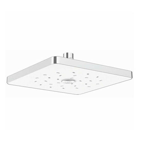 Additional image for Satinjet Square Shower Head 230x230mm (Chrome & White).