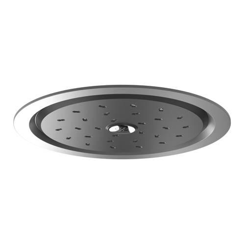 Additional image for Kiri Satinjet Flush Mounted Shower Head (Chrome & Graphite).