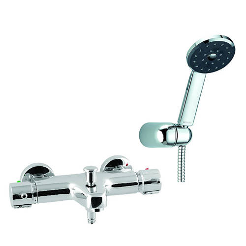 Additional image for Wall Mounted Thermostatic Bath Shower Mixer Tap.