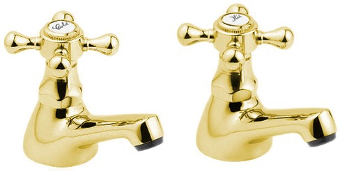 Additional image for Bath Taps (Pair, Gold).