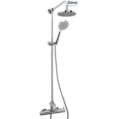 Additional image for Thermostatic Bar Shower Valve With Rigid Riser Kit.