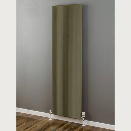 Additional image for Vertical Aluminium Radiator 1826x480 (Grey Beige).