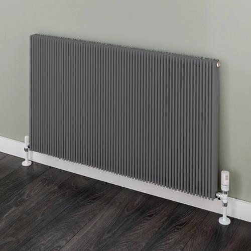 Additional image for Horizontal Aluminium Radiator 526x1120 (Grey).