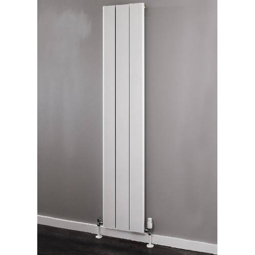 Additional image for Vertical Aluminium Radiator 1500x476 (White).