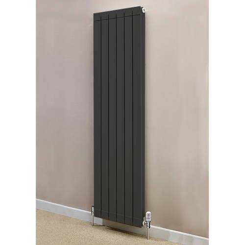 Additional image for Vertical Aluminium Radiator & Brackets 1446x260 (Olive).