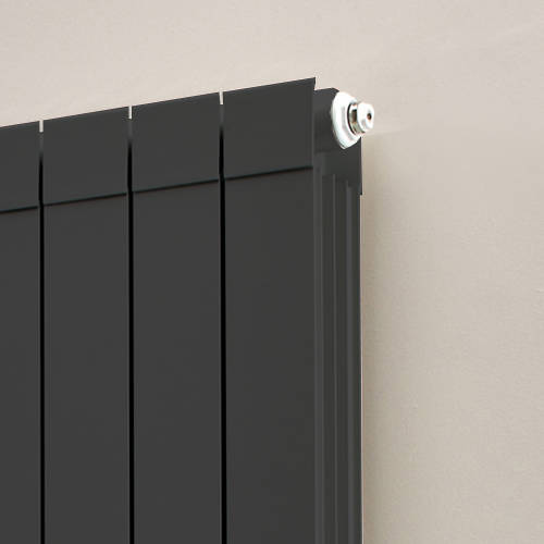 Additional image for Vertical Aluminium Radiator & Brackets 1446x500 (Olive).