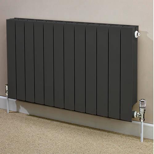 Additional image for Horizontal Aluminium Radiator & Brackets 440x420 (Olive).