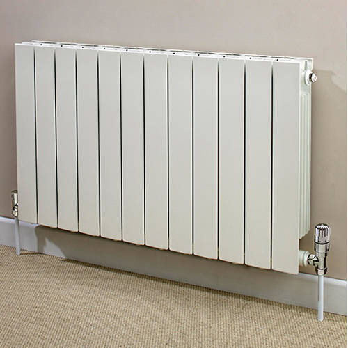 Additional image for Horizontal Aluminium Radiator & Brackets 440x420 (White).