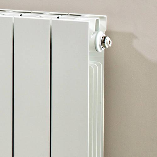 Additional image for Horizontal Aluminium Radiator & Brackets 440x420 (White).