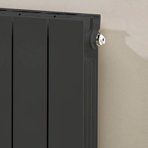 Additional image for Horizontal Aluminium Radiator & Brackets 690x660 (Olive).