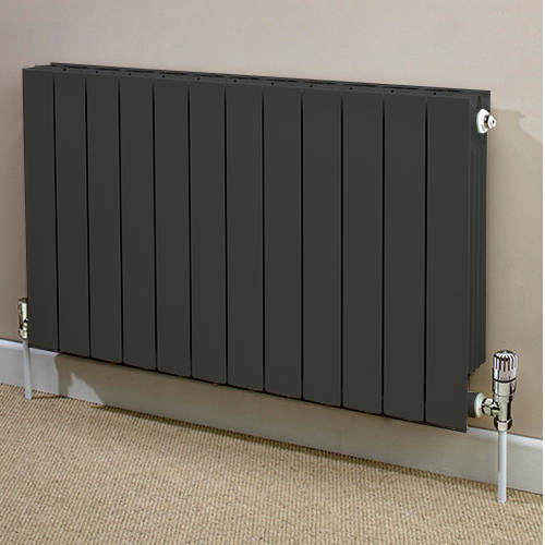 Additional image for Horizontal Aluminium Radiator & Brackets 690x820 (Olive).