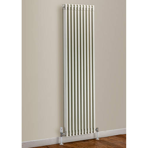Additional image for Vertical Aluminium Radiator 1470x270 (White).