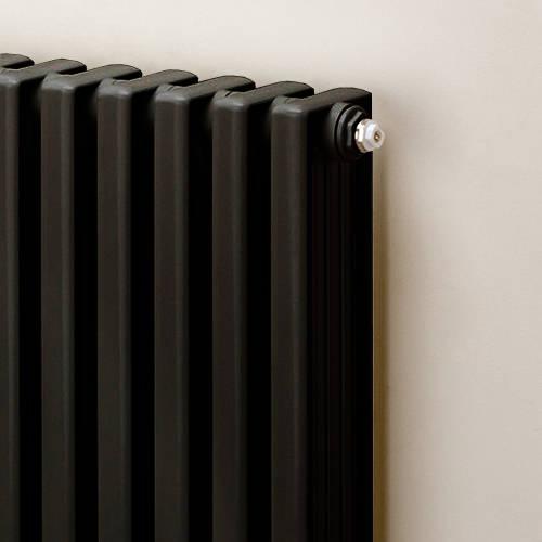 Additional image for Horizontal Aluminium Radiator 568x1020 (Black).