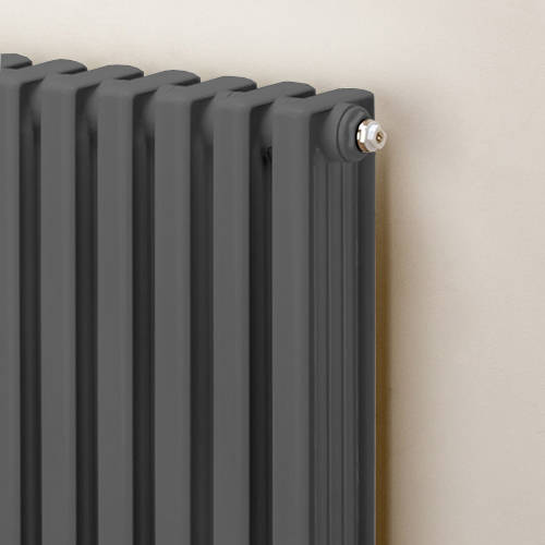 Additional image for Horizontal Aluminium Radiator 568x620 (Window Grey)