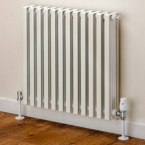Additional image for Horizontal Aluminium Radiator 668x620 (White).