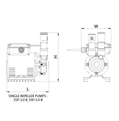 Additional image for SSP-3.0B Single Ended Shower Pump (3.0 Bar, Positive).