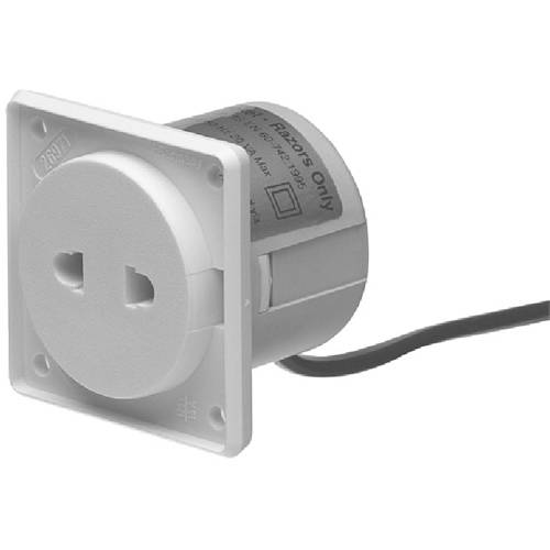 Additional image for Shaver Socket With Transformer & Hinged Cover (Chrome).