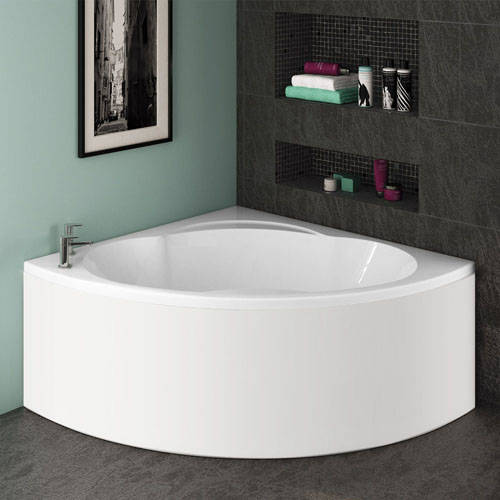 Additional image for Laguna Corner Turbo Whirlpool Bath With 14 Jets & Panel, 1450x1450.