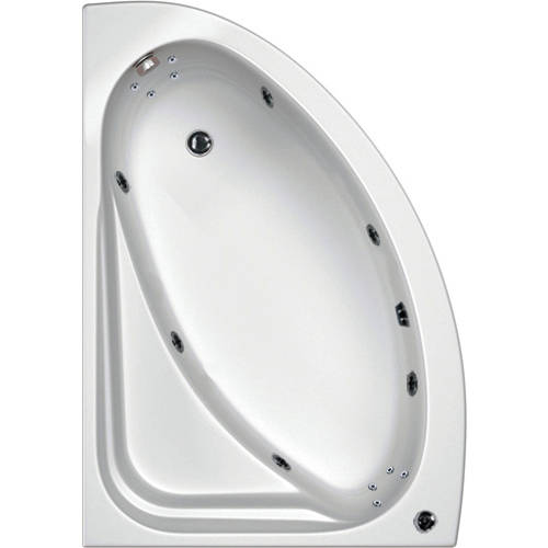 Additional image for Orlando LH Turbo Whirlpool Bath With 14 Jets & Panel, 1500x1040.