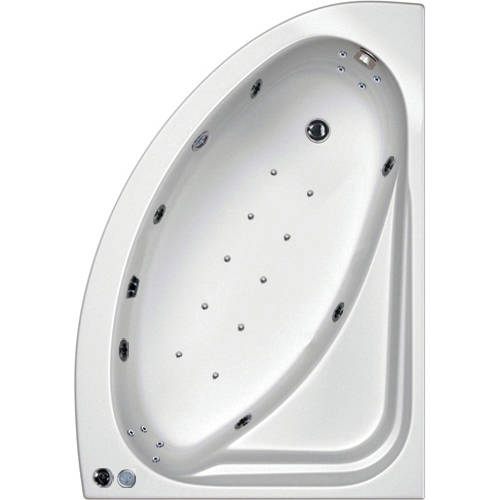Additional image for Orlando RH Corner Whirlpool Bath With 24 Jets & Panel, 1500x1040.