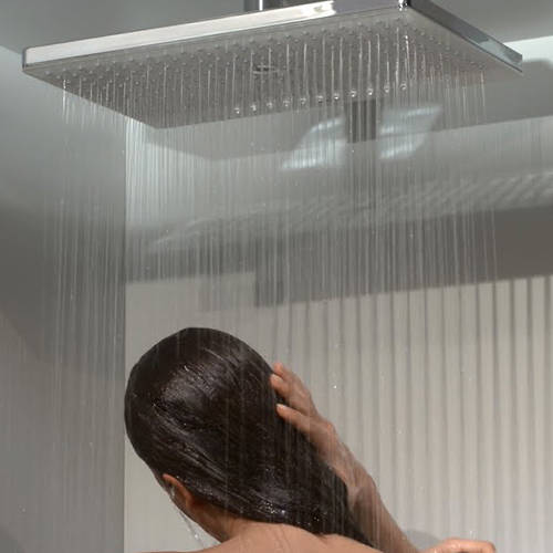Additional image for Rainmaker 1 Jet Shower Head & Arm (460mm, White & Chrome).