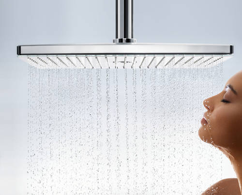 Additional image for Rainmaker 3 Jet Shower Head & Arm (460x300, White & Chrome).