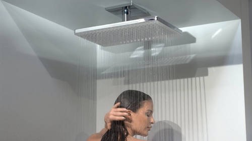 Additional image for Rainmaker 2 Jet Eco Shower Head & Arm (460x300, White & Chrome).