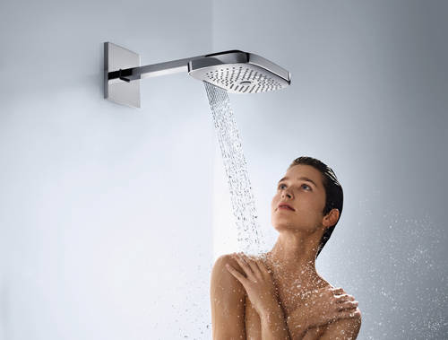 Additional image for Raindance E 300 3 Jet Shower Head & Arm (300x190mm, Chrome).