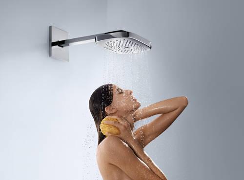 Additional image for Raindance 3 Jet Shower Head & Arm (300x190, White & Chrome).