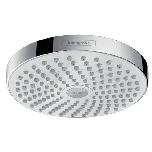 Additional image for Croma Select S 180 2 Jet Shower Head (180mm, White & Chrome).