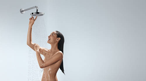 Additional image for Croma Select S 180 2 Jet Eco Shower Head (White & Chrome).