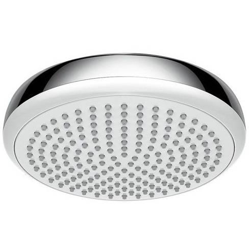 Additional image for Crometta 180 1 Jet EcoSmart Shower Head (White & Chrome).