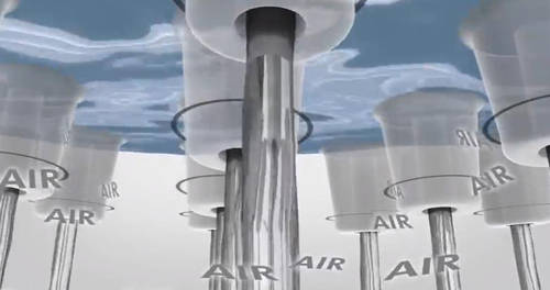 Additional image for PuraVida 400 Air 1 Jet Eco Shower Head & Arm (390x260, Chrome).