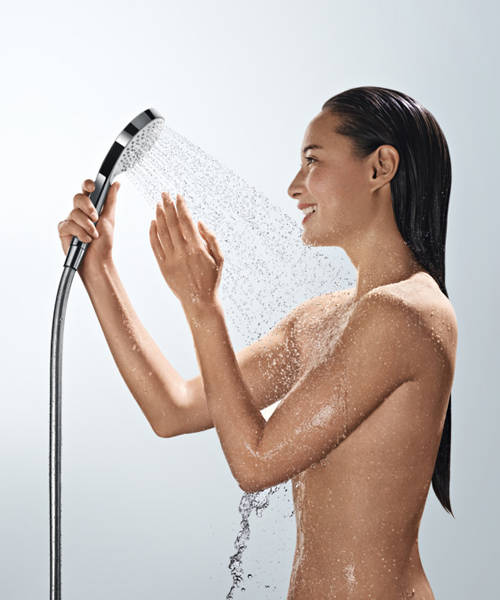 Additional image for Raindance Select E 300 2 Jet Shower Pack (White & Chrome).