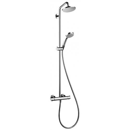 Additional image for Croma 160 1 Jet Showerpipe Pack (Chrome).