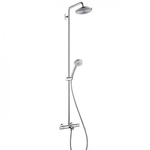 Additional image for Croma 220 Air 1 Jet Showerpipe Pack With Bath Filler Spout (Chrome).