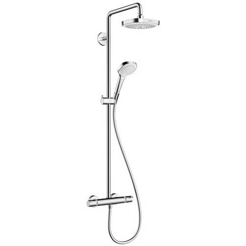 Additional image for Croma Select E 180 Showerpipe Pack With Eco (White & Chrome).
