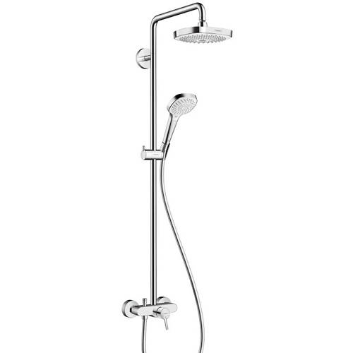 Additional image for Croma Select E 180 Shower With Lever Handle  (White & Chrome).