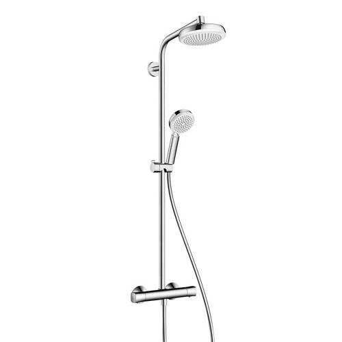 Additional image for Crometta 160 1 Jet Showerpipe Pack (Chrome).