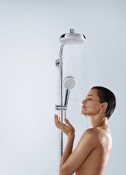 Additional image for Crometta 160 1 Jet Shower Pack, Manual Handle (White & Chrome).