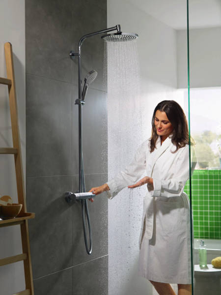 crometta    jet showerpipe pack chrome hansgrohe